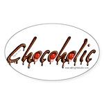Chocoholic Oval Sticker