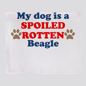 Spoiled Rotten Beagle Throw Blanket