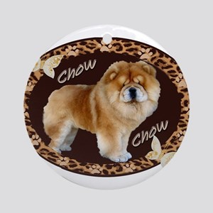 Chow Chow Pawprints Ornament (Round)
