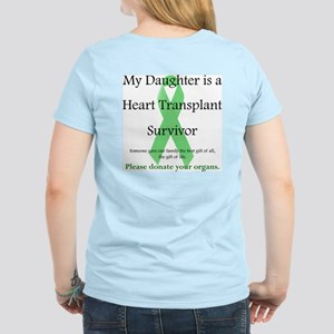 Daughter Heart Transplant Women's Pink T-Shirt
