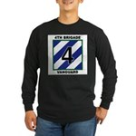 Mens 4th Brigade Long Sleeve Black T-Shirt