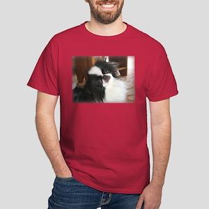 """Japanese Chin """"Palm Pilot"""" Dark T-Shirt"""