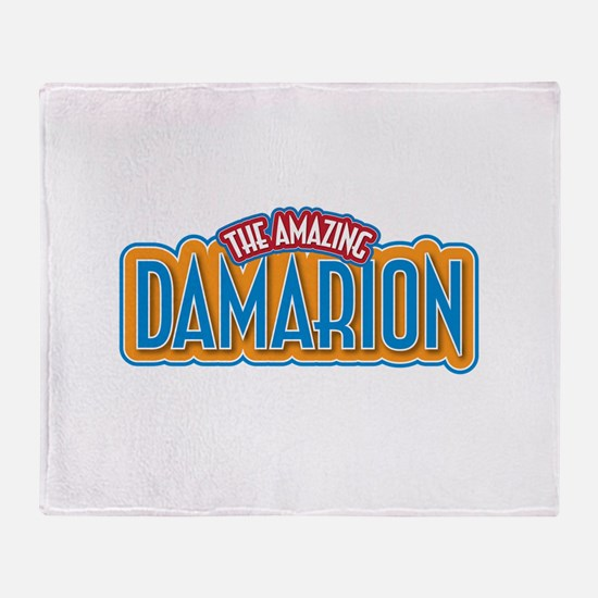 The Amazing Damarion Throw Blanket