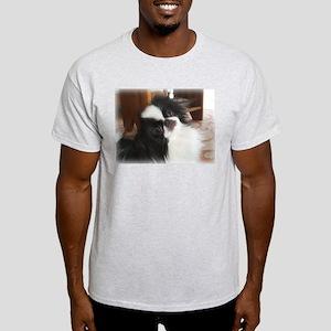 "Japanese Chin ""Palm Pilot"" Ash Grey T-Shirt"