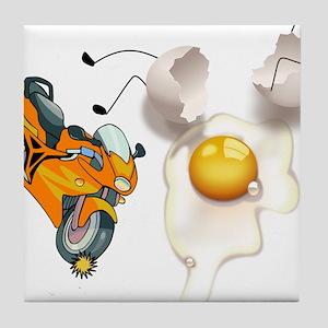 Funny Egg Accident Tile Coaster