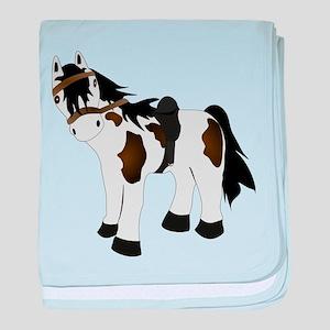Paint Pony baby blanket
