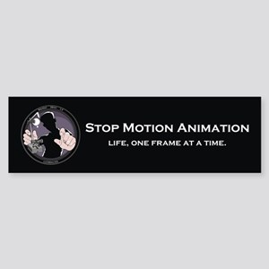 Stop Motion Animation Bumper Sticker