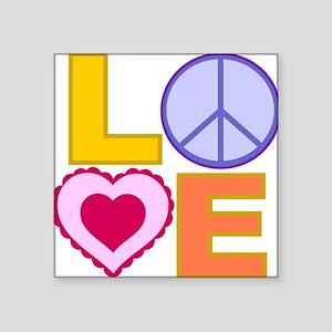 """Love Art Square Sticker 3"""" x 3"""""""