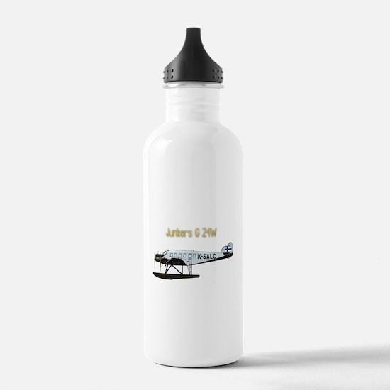 Junkers G 24W w text Water Bottle