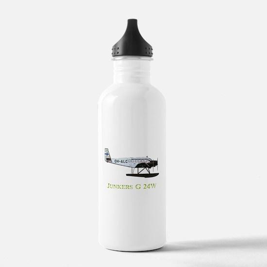 Junkers G 24W 2 w text Water Bottle
