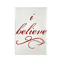 I Believe (fancy) Rectangle Magnet (10 pack)