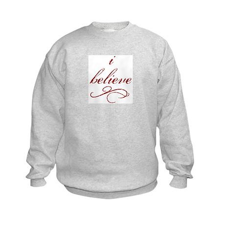 I Believe (fancy) Kids Sweatshirt