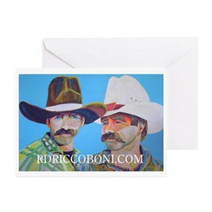 Gay cowboy greeting cards cafepress m4hsunfo