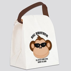 big brother body guard monkey Canvas Lunch Bag