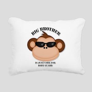 big brother body guard monkey Rectangular Canvas P