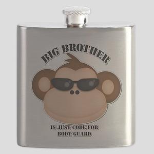 big brother body guard monkey Flask