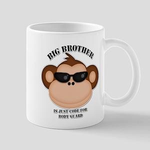 big brother body guard monkey Mug