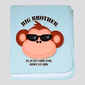 big brother body guard monkey baby blanket