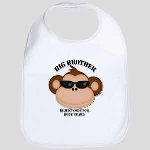 big brother body guard monkey Bib