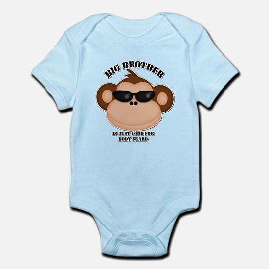 big brother body guard monkey Body Suit