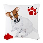 I heart my Jack Russell white Woven Throw Pill