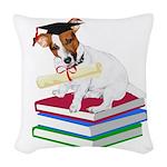 Jack Russell Terrier Graduation Woven Throw Pillow