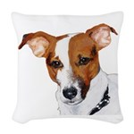Jack Russell head Woven Throw Pillow