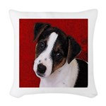 JRT Puppy Ink Sketch Woven Throw Pillow