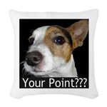 JRT Your Point? Woven Throw Pillow