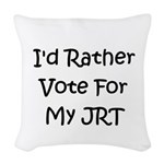 id rather vote for my jrt Woven Throw Pillow