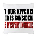 IN OUR KITCHEN Woven Throw Pillow