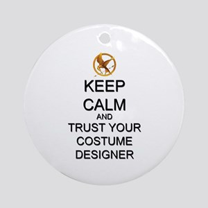 Keep Calm Costume Designer Hunger Games Ornament (