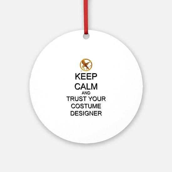 Keep Calm Costume Designer Hunger Games Ornament (