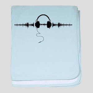Headphones with Soundwave Spikes in Black baby bla