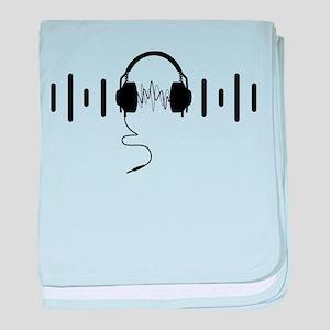 Headphones with Audio Bar Waves in Black baby blan