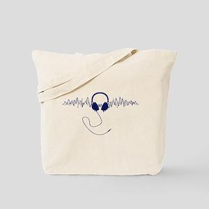 Headphones with Soundwaves Visual in Navy Blue Tot