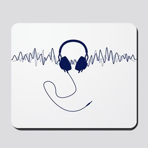 Headphones with Soundwaves Visual in Navy Blue Mou