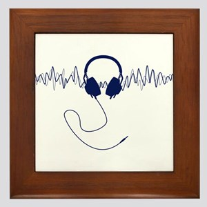 Headphones with Soundwaves Visual in Navy Blue Fra