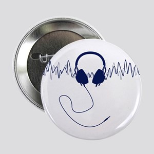 Headphones with Soundwaves Visual in Navy Blue 2.2