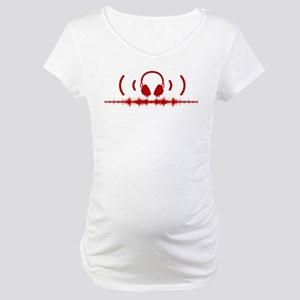 Headphones with Soundwaves and Audio in Red Matern