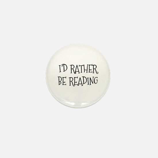 Rather Be Reading Playful Mini Button