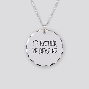 Rather Be Reading Playful Necklace Circle Charm
