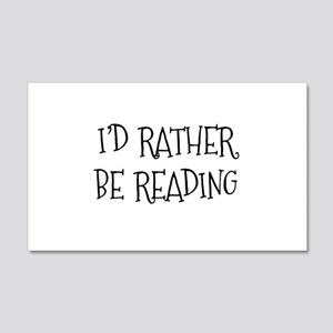 Rather Be Reading Playful 22x14 Wall Peel