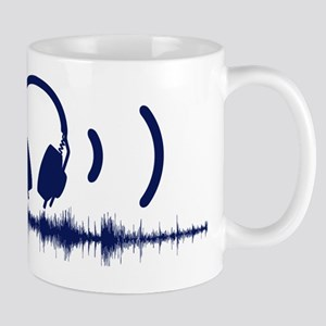 Headphones with Soundwaves and Audio in Navy Blue