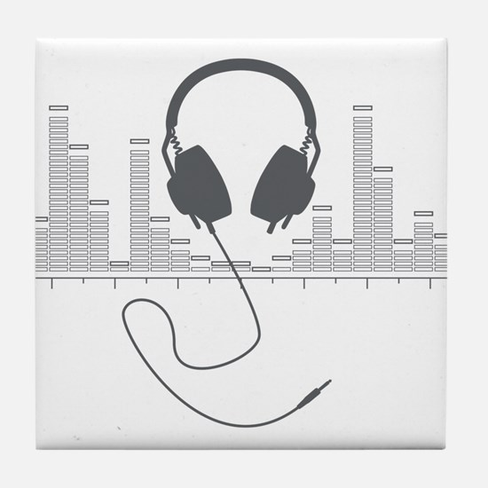 Headphones with Audio Bar Graph in Grey Tile Coast