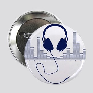 """Headphones with Audio Bar Graph in Navy Blue 2.25"""""""