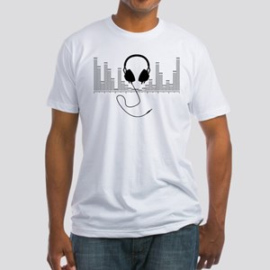 Headphones with Audio Bar Graph in Black T-Shirt