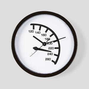 Racing car speed Wall Clock