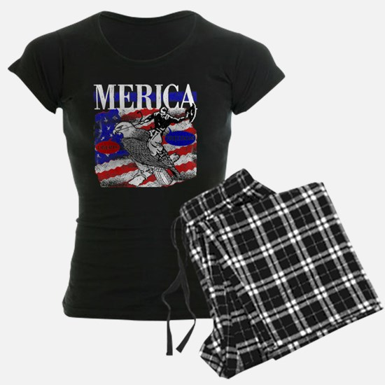 Merica Eagle and Cowboy Pajamas