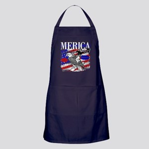 Merica Eagle and Cowboy Apron (dark)